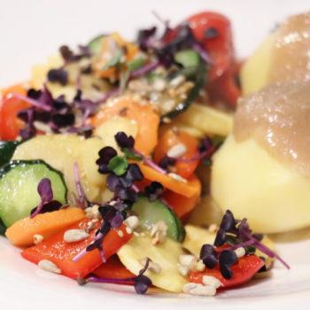 Abendessen in Bioqualität